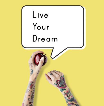 ライブあなたの夢の行動開始を始める 写真素材 - 76185245