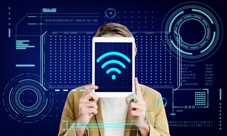 media gadget: Wifi Internet Wireless Connection Communication Technology Graphic