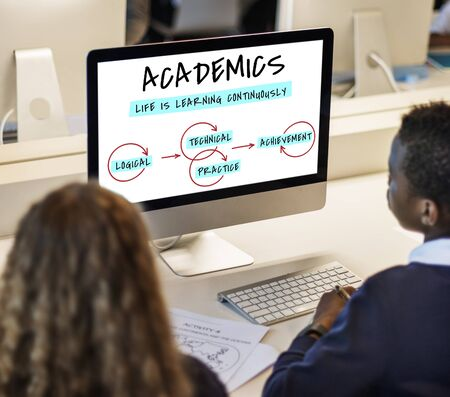 technical university: E-learning Knowledge Academics Stock Photo