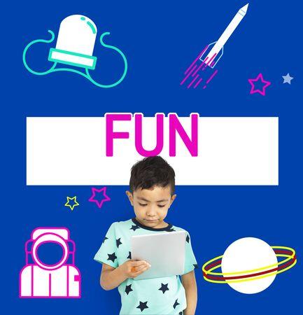 Imagination galaxy cheerful illustration childhood