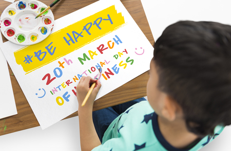 International Day Of Happiness Concept Stok Fotoğraf - 76223773