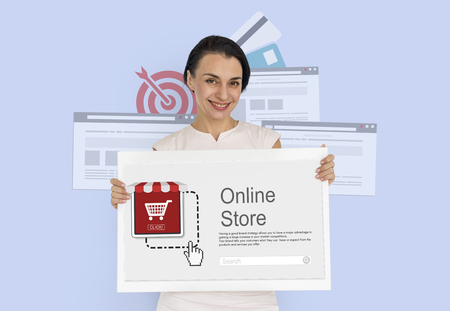 Online Payment Purchase E-Commerce Buy Icon Stock Photo