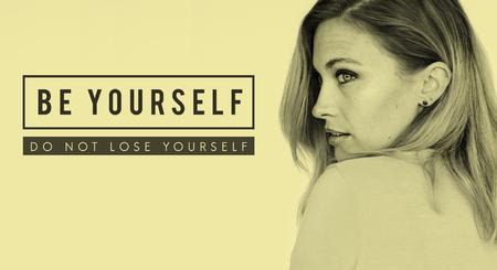 Yourself overlay word young people Imagens