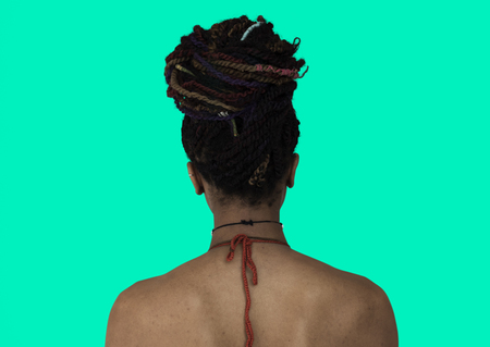 African Descent Woman Back View