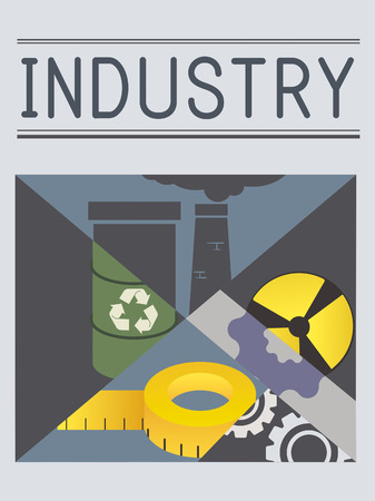 Industry concept with illustration Stock Photo