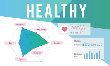 Graphic with healthy concept