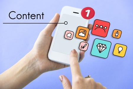 media gadget: Content Configuration Creativity Digital Media Stock Photo