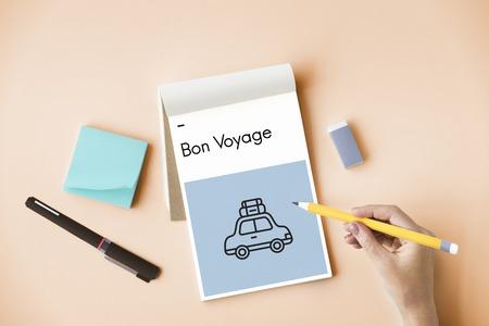Adventure Bon Voyage Destination Icon Stock Photo