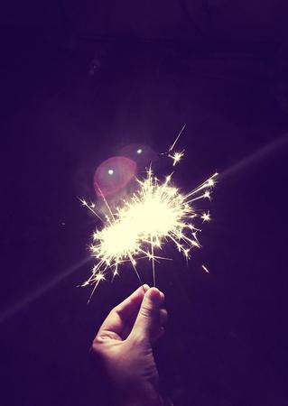 Bengal Fire Festive Firework Burn 版權商用圖片