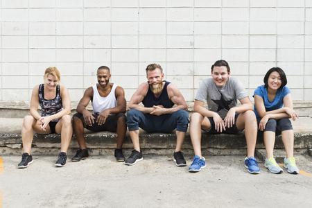 Active People Sport Workout Concept Banco de Imagens - 76307074