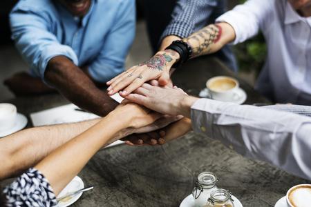 Samenwerking Verbindingsgroep Eenheid brainstormen Stockfoto