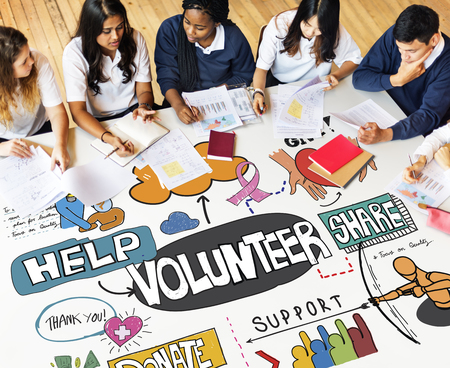 Students Community Service Volunteer Concept Stock Photo