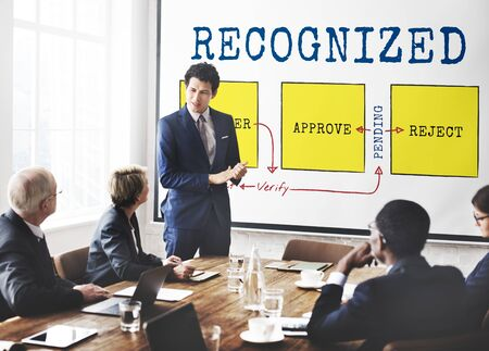 Recognized Achieved Permitted Approve Business Stock Photo