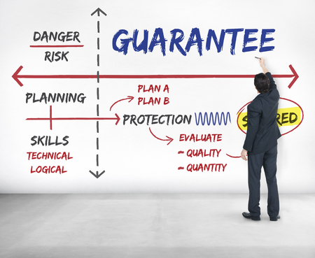 loss leader: Warranty Assurance Guarantee Secured Plan Stock Photo