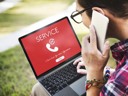media gadget: Call Center Service Information Concept