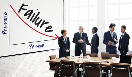 Business people with failure graph concept Banco de Imagens