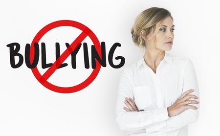 Aggressive Behavior No Bullying Icon Stock Photo