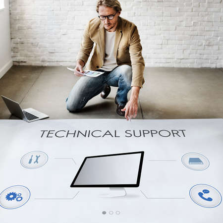 architect drawing: Technology Technical Assistance Repair Conceopt