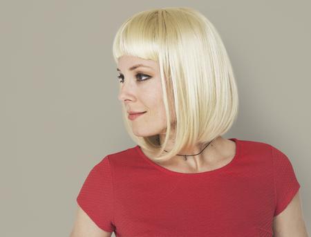 女性ポートレート スタジオ撮影カジュアル