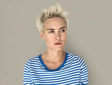 irritated: Caucasian Blonde Female Annoyed Irritated