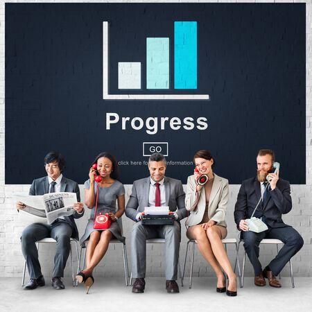 Progress Development Growth Improvement Concept Imagens - 76424991
