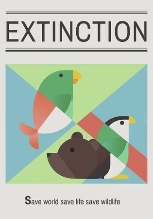 Save endangered animals icon graphic Фото со стока - 76518407