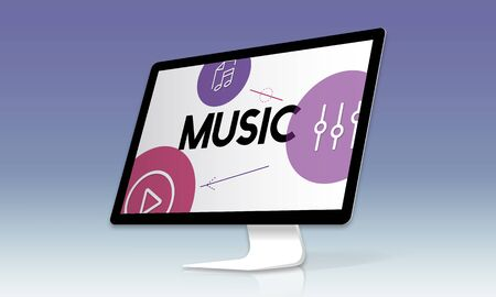 Music Streaming Media Entertainment Equalizer Stock Photo