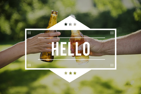 Hi Hello Kindness Greetings Icon Stock Photo
