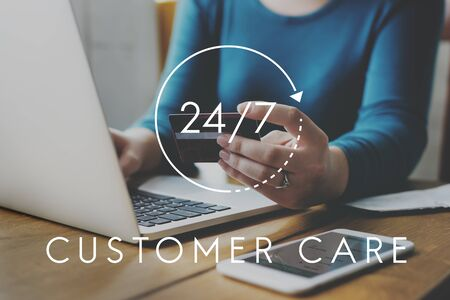 247 Help desk customer service overlay