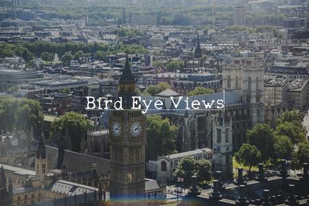 City of London with bird eye views concept Stock Photo
