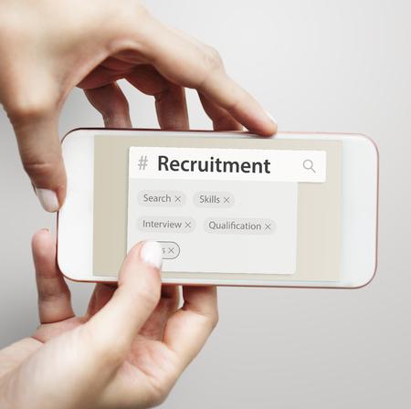 Recruitment employment search engine tags Stok Fotoğraf
