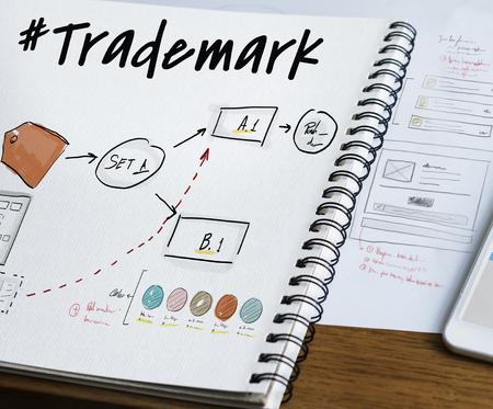 ビジネス ブランド ラベル グラフ画像