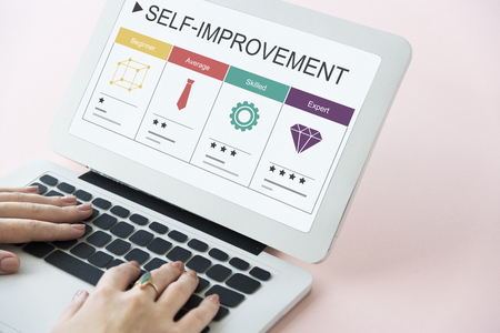 Development Performance Self-Improvement Ratings Icon Stock Photo