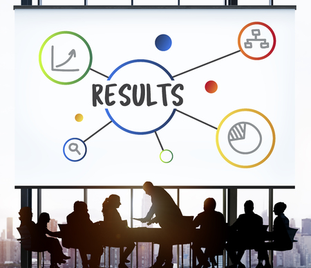 Business Result Diagram Illustration Concept