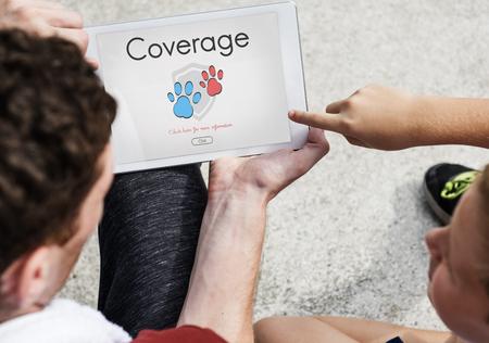 compensation: Insurance Coverage Mix Reimbursement Protection Concept Stock Photo