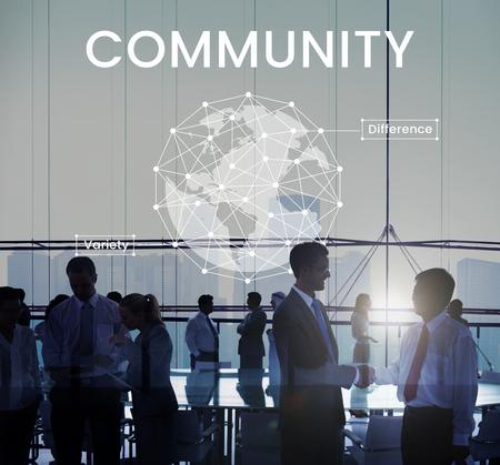 international internet: Network graphic overlay banner background