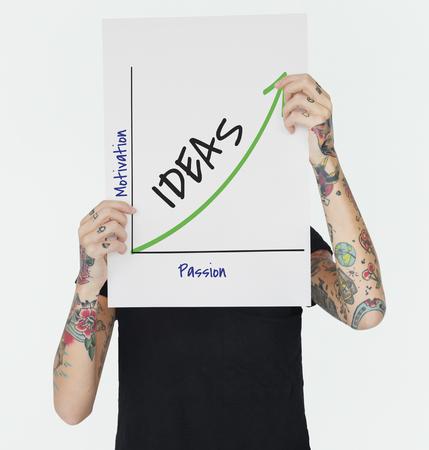 Enjoy Success Growth Graph Development Banco de Imagens