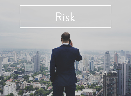 Businessman Investment Risk Opportunity Word