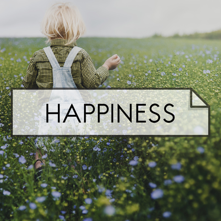 dungarees: Happiness Childhood Natural Fresh Air Environment Stock Photo