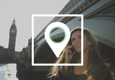 Indicatore di distanza GPS Global Positioning System Archivio Fotografico - 76397506