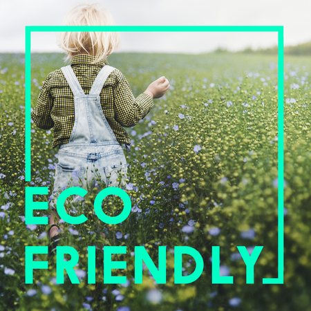 dungarees: Green Living Eco Friendly Concept Stock Photo