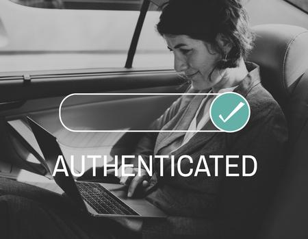 Authentifizierter Assurance Certificate Guarantee Proof Standard-Bild - 76397821