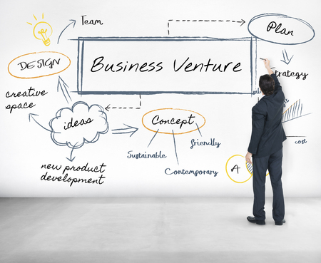 Businessman with business venture concept Stock Photo - 113442499