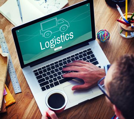 international internet: Cargo Shipping Freight Logistics Truck Icon