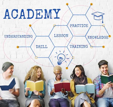 Onderwijs Academie Certificering Curriculum Icon Stockfoto