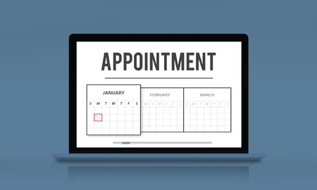 Laptop with appointment concept