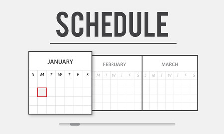 Graphic with schedule and calendar concept
