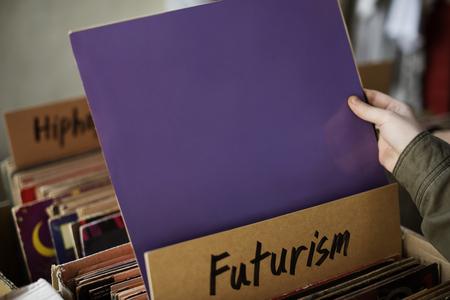 Futurism Music Audio Relaxation Rhythm Vinyl Concept Reklamní fotografie