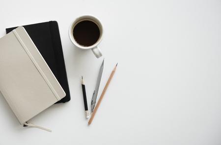 memorise: Notebook Pencil Coffee Work Station