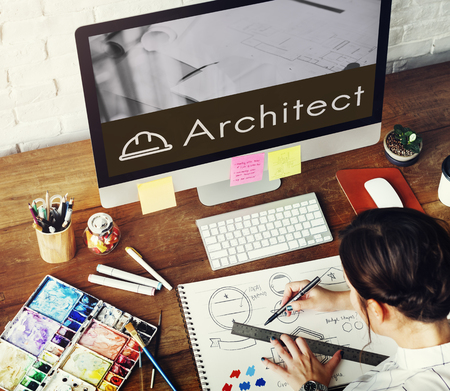 architect drawing: Architecture Renovation Style Design Graphic